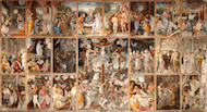 Stories of life and passion of Christ - Fresco